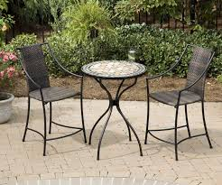 Cast Iron Patio Set Table Chairs Garden Furniture - dining room chic popular wrought iron with wicker seat outdoor