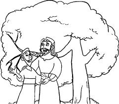 zacchaeus talking jesus coloring page wecoloringpage