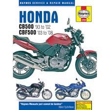 haynes manual honda cb500 1993 2002 cbf500 2003 08 ebay
