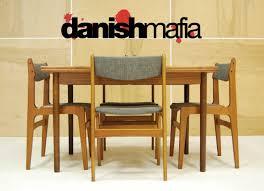 mid century dining chairs mid century danish modern teak dining