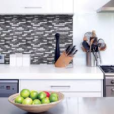 Smart Tiles Murano Metallik  In W X  In H Peel And - Peel on backsplash