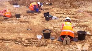 Archaeologists at dig on Midland Road  Peterborough BBC
