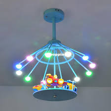 Merry Go Round Children LED Ceiling Lights Kids Room Decorate - Kids room lamp