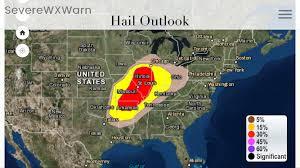 Weather Map Ohio Severe Weather Likely Today Across Indiana Illinois Missouri