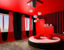 artsy red and black bedroom design photo 5 howiezine romantic red and black bedroom design with nice curtains