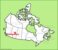 Canada On The Map by Where Is Edmonton Canada On A Map Canada Map