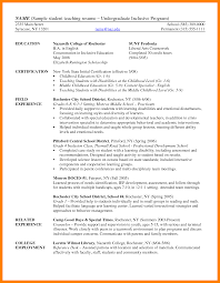 Sample Undergraduate Resume 5 Cv Example Undergraduate Biology Resume