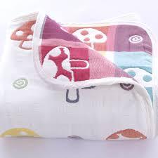 couverture coton bio couverture bebe en mousseline de coton imprimé mushroom
