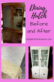 furniture restoration a dining room hutch before and after