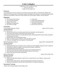 Resume Teacher Assistant  teacher assistant cv  cover and resume
