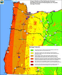 Maps Oregon by The Challenges Of Seismic Mitigation In Oregon Where Science And