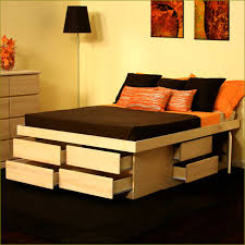 King Platform Bed Frame With Drawers Plans by King Size Bed Frame With Storage Drawers Plans Storage Decorations