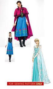Frozen Halloween Costumes Adults Sewing Pattern Frozen Costume Disney Princess Anna
