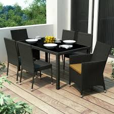 Black Wicker Patio Furniture Sets - outdoor u0026 garden fabulous metal patio dining set with tufted
