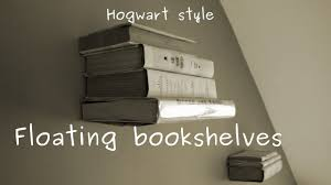 how to make levitating invisible bookshelf on the wall easy