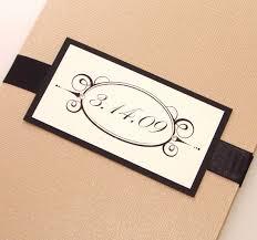 folded invitation emma folded wedding invitation sample tan black and white