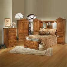 King Size Bedroom Set With Armoire Oak Express Bedroom Furniture Freestanding Wooden Brown Rectangle