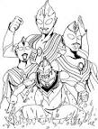 Free worksheets for kid: ภาพระบายสี อุลตราแมน Ultraman Coloring pages