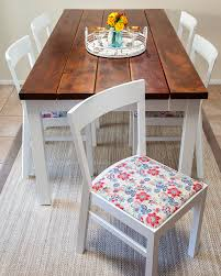 how to beautifully reupholster dining room chairs on a budget