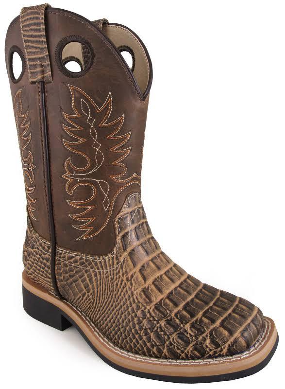 Smoky Mountain Youth Tan Gator Boots 5