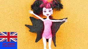 diy draculaura monster high bat costume make your own foam clay