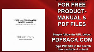 free 2004 ford ranger owners manual video dailymotion