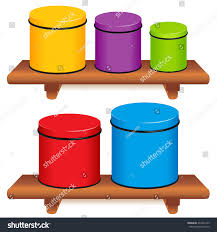 kitchen canister set five multi color stock vector 332291243