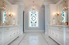 small window treatments bathroom with beautiful orange curtain