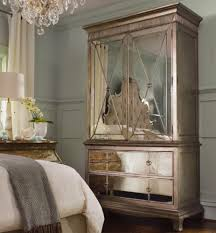 King Bedroom Set Armoire Two Door Two Drawer Armoire With Mirror Front By Hooker Furniture
