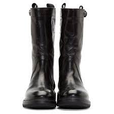 leather biker boots shoesininblog rick owens women u0027s black leather biker boots