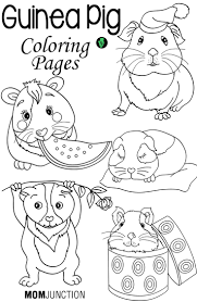 top 25 free printable guinea pig coloring pages online cavy pig