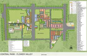 Central Park Floor Plan by Central Park The Room At Central Park Flower Valley In Sector 33