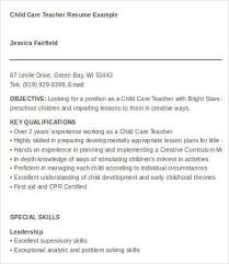 Day Care Teacher Job Description For Resume by Daycare Resume Examples Day Care Worker Resume Sample Resume For