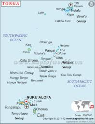 Blank Map Of Oceania by Where Is Tonga Location Of Tonga