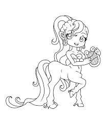 harp coloring page centaur coloring pages getcoloringpages com