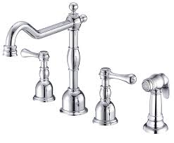 danze d422257ac opulence two handle kitchen faucet with side spray
