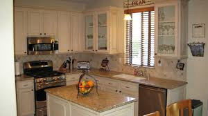 Furniture Kitchen Cabinet Old And Rustic Kitchen With Wall Mounted Microwave Under White