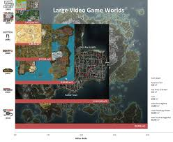 Morrowind Map A Size Comparison Of Massive Open World Video Game Maps