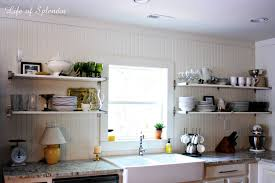 open shelving in the kitchen and some updates