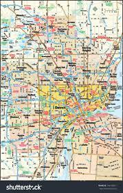 Detroit Michigan Map by Detroit Michigan Area Map Stock Vector 144155671 Shutterstock
