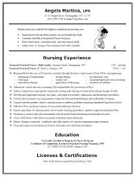 registered nurse resume samples sample resume nurse free resume example and writing download sample licensed practical nursing resume include licenses and certifications