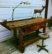 Antique Woodworking Bench For Sale by Vintage Wood Workers Work Bench Desk Kitchen Island