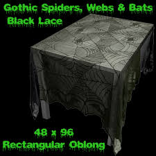 halloween table cloth gothic spider web creepy cloth print cover halloween decoration