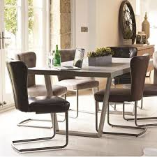 baker petra dining table u0026 6 oscar silver dining chairs