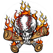 bats images clip art softball cartoon softball baseball skull and bats flaming