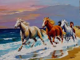 peinture de bord de mer galerie tableaux artiste peintre des chevaux christian jequel