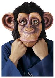 halloween mask costumes deluxe chimp man mask funny animal halloween masks for adults