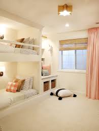 bedrooms for girls with bunk beds the reveal a shared girls u0027 room complete with built in bunks