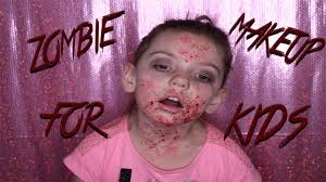 This Is Halloween Zombie Makeup For Kids Youtube