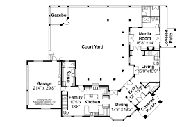 house plans mediterranean style modern house mediterranean floor plans with ourtyard simple 2 house plan